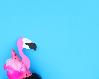 Let's FLAMINGLE! -- FLAMINGO Party Hat -- Perfect for a Flamingo FIESTA!