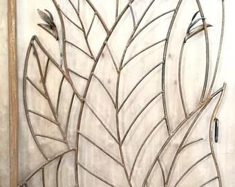 Bird of Paradise Gate,ornamental,metal,art,gate,handmade,blacksmith,custom,functional,security,artistic,sculpture,organic,garden,abstract
