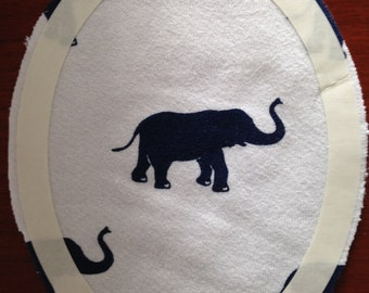 Blue Elephant Tat Patch -- Not the pink elephants you saw last night...blue.