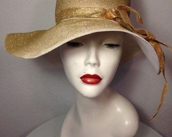 FREE  SHIPPING     1960  Wide Brim Sun Hat