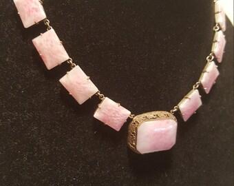 FREE  SHIPPING   Edwardian  Czech  Glass  Necklace