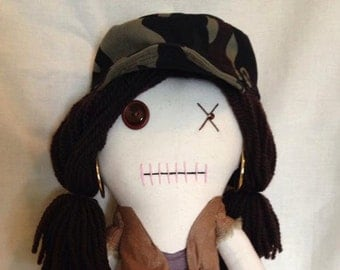 "Creepy n Cute Zombie Doll - ""Rosita"" - Inspired by TWD (P)"