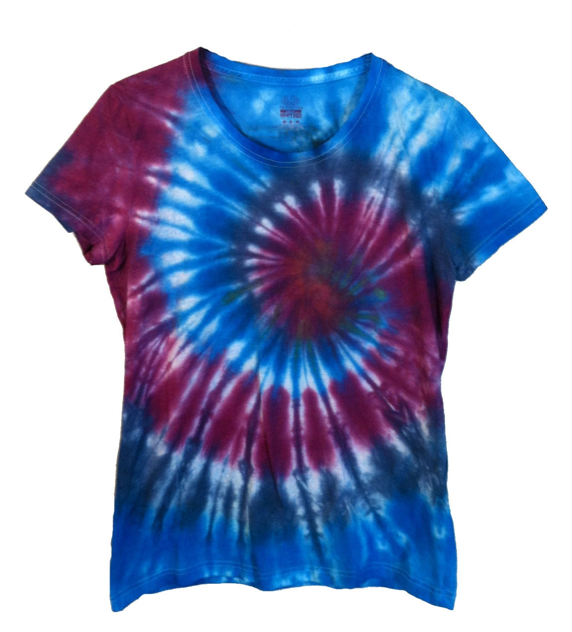 tie dye shirt purple and blue spiral psychedelic hippie. Black Bedroom Furniture Sets. Home Design Ideas
