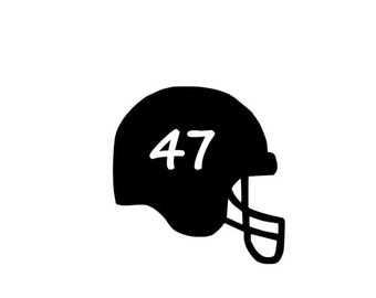 Football Helmet Decal, Football Car Decal, Football Helmet Number, Personalized Helmet Number, Football Mom Decal,Jersey Number Sticker