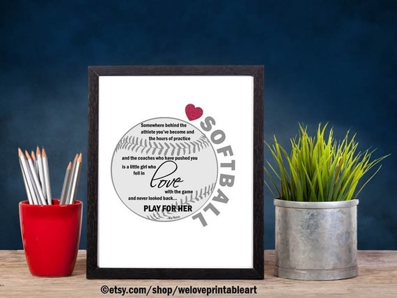 Softball Gifts Ideas Softball Pictures Sports Decor