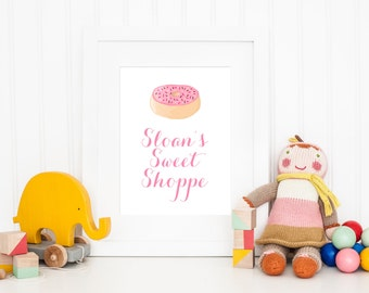 DIGITAL Donut Birthday Party, Sweet Shop Birthday, Sweet Shoppe Birthday Party, Donut Birthday Party Printable Decor - ANY SIZE