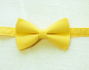 B097 Sunflower Yellow bow tie For baby/Toddler/Teen/Adult/with Adjust strap/Clip on