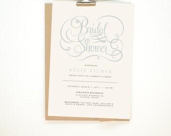 Elegance - Bridal Shower Invitation - Printable File