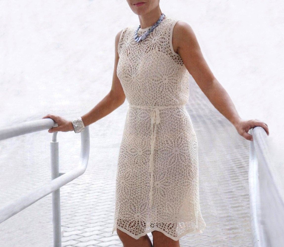 Crochet dress pattern crochet wedding dress crochet party for Crochet wedding dress patterns