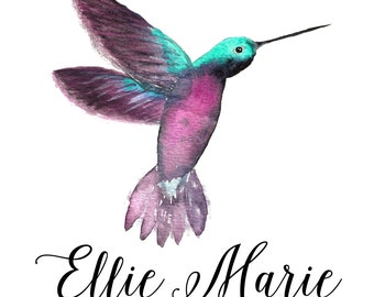 Custom Memorial Hummingbird- 8x10