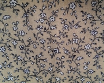 Ditzy spring vintage inspired floral cotton fabric by the metre