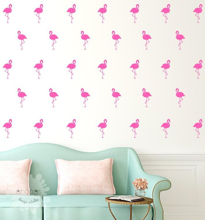 Flamingo Wall Decal 40 Flamingo Sticker Home Decor