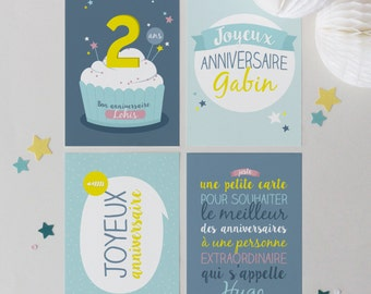 4 customizable birthday cards