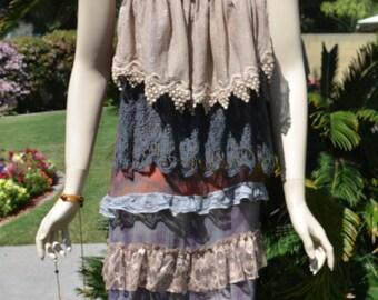 Boho layered dress