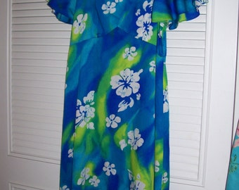 Vintage Hawaiian by Shoreline, Maxi and Beautiful Size 10 - 12) see details