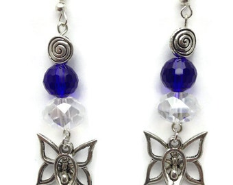 Butterfly Goddess Earrings, Transformation, Emerging, Talismanic Jewellery, Pagan, Wiccan, Spiritual Jewellery