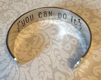 Secret message bracelet - Hand Stamped cuff bracelet - Secret message cuff - Personalized hand stamped jewelry - Secret message jewelry