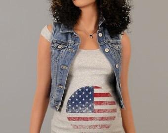 Pregnancy Clothing, Funny Maternity Shirt, Maternity Clothes, Maternity Tshirt, 4th of july maternity, american flag tshirt, tank top