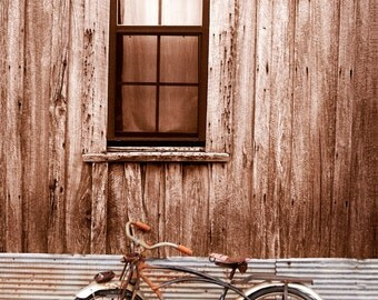 The Bike *Large Wall Art, Americana, Old Bikes, Canvas Photograph*