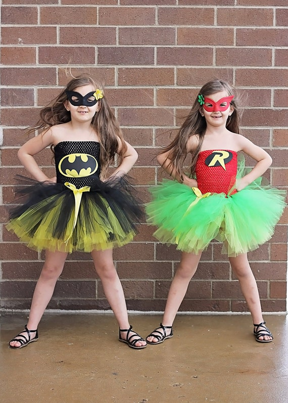 Batman And Robin Tutu Dresses available via OhMyTutuCuteByDeanna
