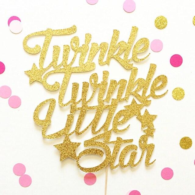 Twinkle Twinkle Little Star Cake Topper By Topperandtwine