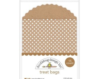 Sale! Treat Bags (Kraft Dots) from Doodlebug - 15 Quantity