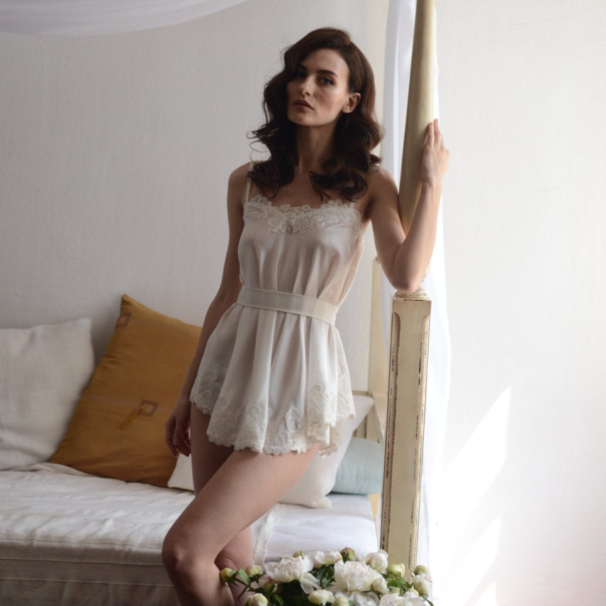 Bridal Camisole With Lace F8Lingerie Nightdress Bridal