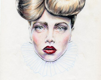 Original Colored Pencil Portrait