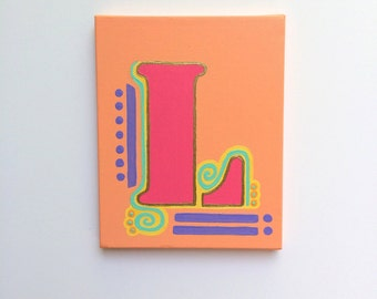 Letter L Art, Letter L Painting, Letter Painting