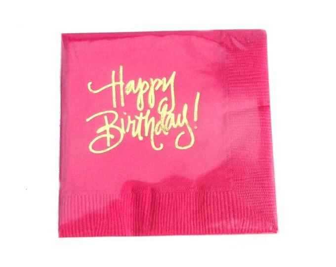 Happy Birthday Napkins (Qty 25)
