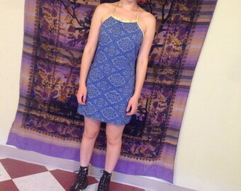 Paisley stretch mini dress size m/l