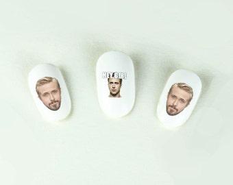 Ryan Gosling Hey Girl Nail Decals