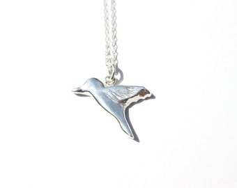Little Hummingbird Necklace. Sterling Silver.