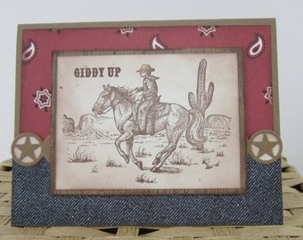 Cowboy Birthday Card