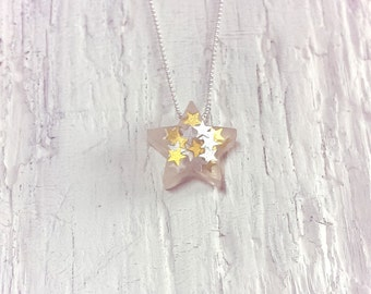 Gold and Silver Star Pendant