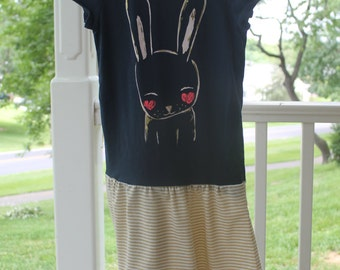 Upcycled Bunny Dress, Crazy Eight size Small 5 / 6