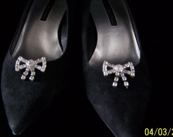 1950's - 1960's Very Retro Rhinestone Shoe Clips
