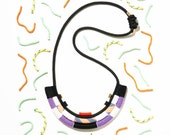 The K2 Necklace - cord rope, climbing rope, 80s colours, inspired by African jewellery