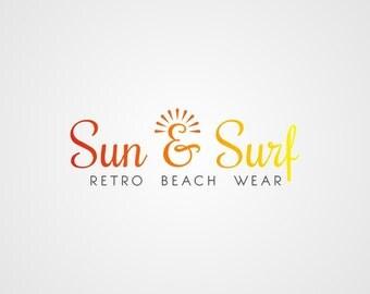 Premade Logo, Beach Logo, Premade Typography Logo, Custom Business Logo