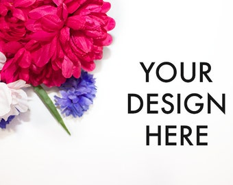 Flower Styled Stock Photography / Purple + Pink / Stylish Stock Photo / Scene / Product Mockup / Photography Background / Floral