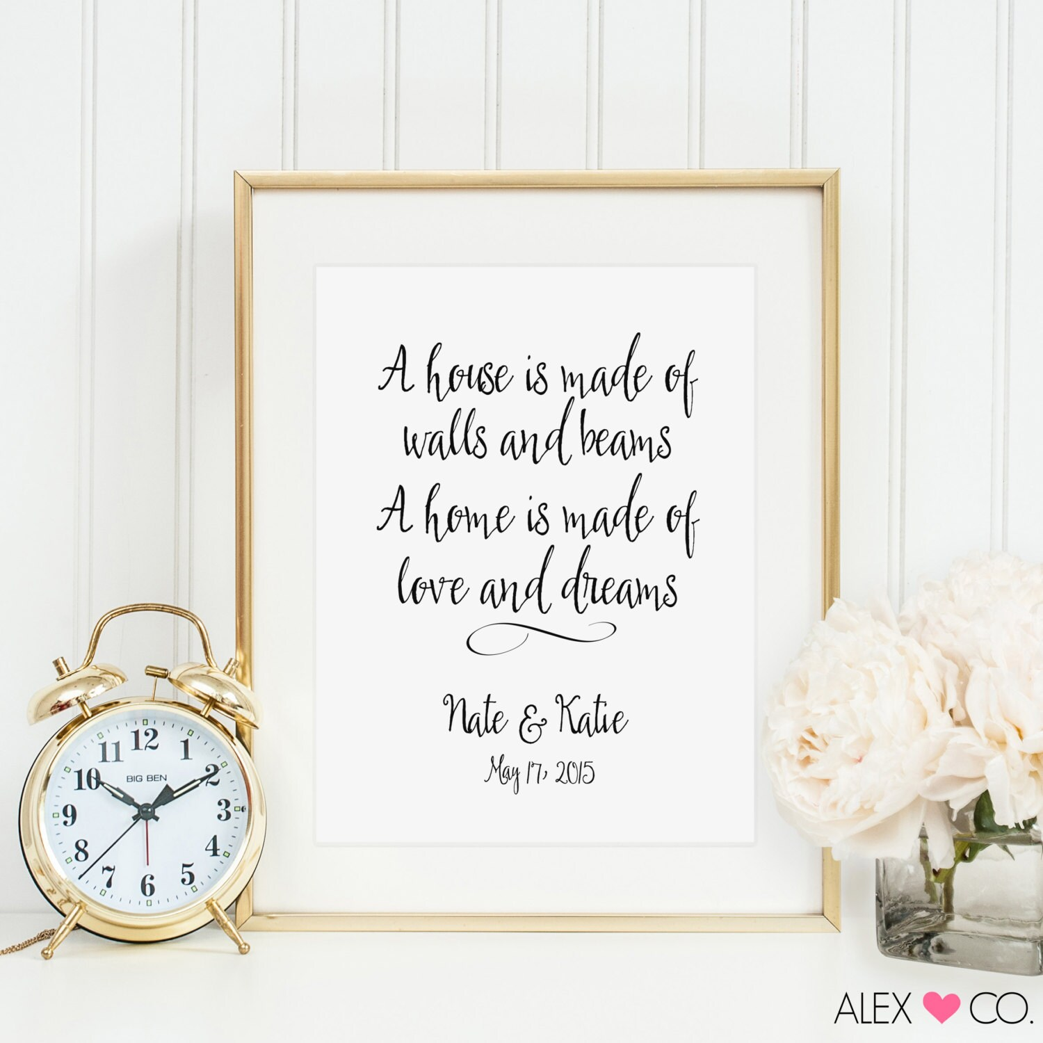Personalized Wedding Gift. Wedding Quotes. by alexandcoprintables