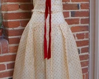 CLEARANCE 1950s Polka Dot Dream Dress