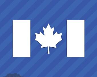 Canadian Flag Vinyl Decal Sticker Canada Maple Leaf