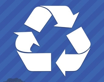 Recycle Symbol Vinyl Decal Sticker