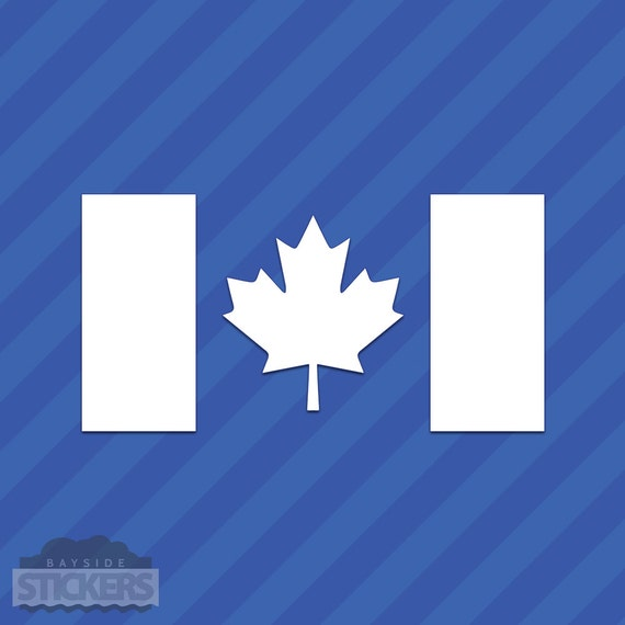 Canadian Flag Vinyl Decal Sticker Canada Maple Leaf From - Vinyl decal stickers canada