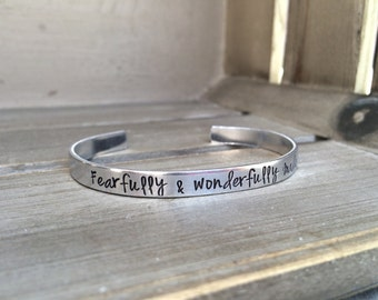 Psalm 139:14 / Fearfully and Wonderfully Made / Scripture Bracelet / Christian Gift / Christian Jewelry / Confirmation / Gift for Her /