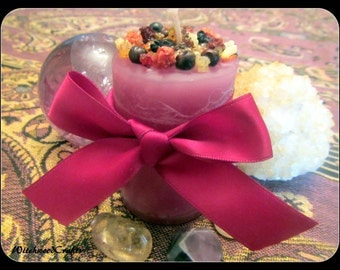 HARVEST WINE - Scented Pillar Candle - Lughnasadh Lammas - Cranberry Juniper Woods  - Pagan Wicca - Wiccan Witch - Witchcraft Harvest