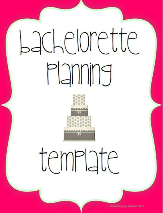 printable bachelorette planning template