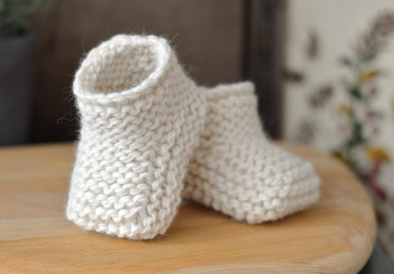 Knitting Pattern Baby Booties Beginner Knitting Tutorial For