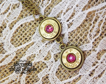 Bullet Necklace - Bullet Jewelry - Birthstone Necklace - Gun Necklace - Country Jewelry - Bullet Pendant - Cowgirl Jewelry - Gifts For Women